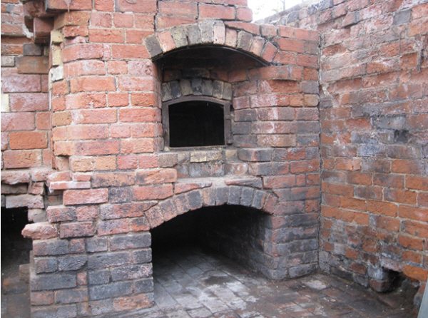 Bakehouse ovens before restoration